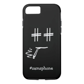CHOOSE ANY COLOR #Hashtag Dude Smiley Personalized iPhone 7 Case