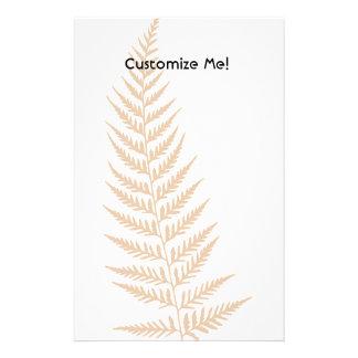 Choose Any Color Pressed Fern Leaf Stationery