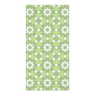 Choose Any Color Repeated Star Pattern Photo Card