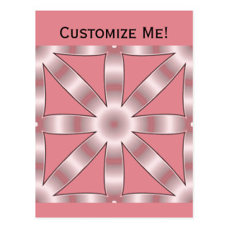 Choose Any Color Repeated Star Pattern Postcard