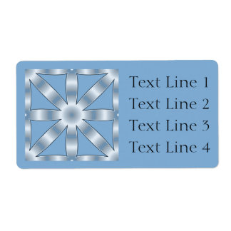 Choose Any Color Repeated Star Pattern Shipping Label