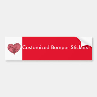 Choose Any Color Spiky Edgy Fire Love Heart Bumper Sticker