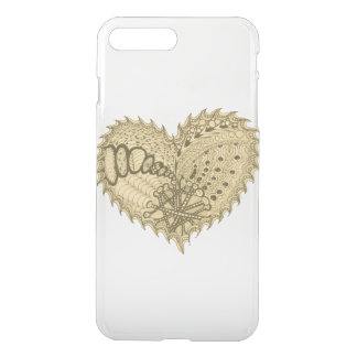 Choose Any Color Spiky Edgy Fire Love Heart iPhone 7 Plus Case