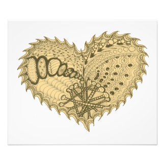 Choose Any Color Spiky Edgy Fire Love Heart Photo Print