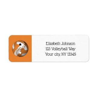 choose any colour yin yang volleyball address return address label