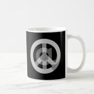 CHOOSE ANY CUSTOM COLOR @ Peace Sign Social Media Basic White Mug