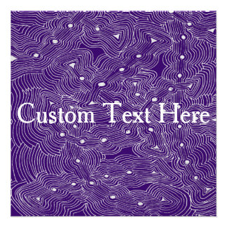 Choose Background Color Abstract Art Custom Announcements