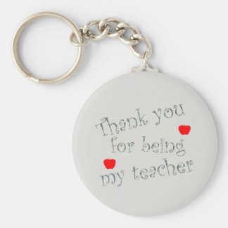 Choose Background Color Thank You Teacher Key Ring
