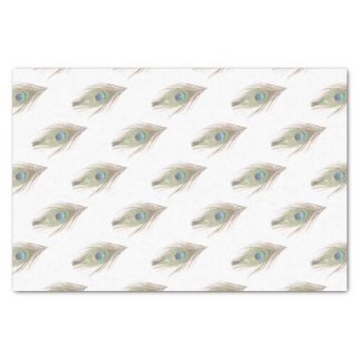 Choose Background Peacock Feather Tissue Paper