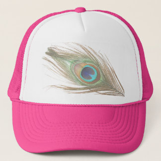 Choose Background Peacock Feather Trucker Hat