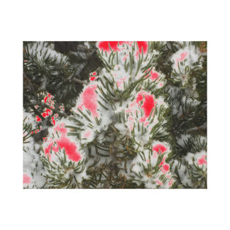 Choose Color Christmas Camo Canvas Print