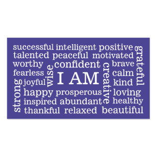 Choose Color Daily Positive Affirmations I AM Pack Of Standard Business Cards