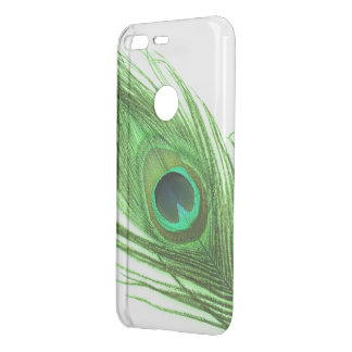 Choose Color Green Peacock Feather Uncommon Google Pixel Case
