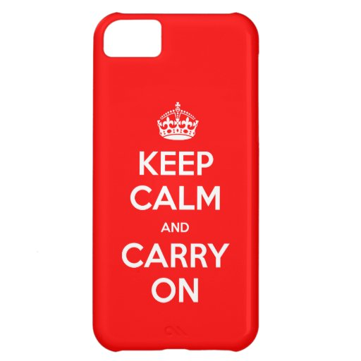 Choose Color Keep Calm CaseMate Case For iPhone 5C