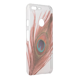 Choose Color Red Peacock Feather Uncommon Google Pixel XL Case