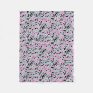 Choose Color Snow Camo Fleece Blanket