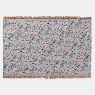 Choose Color Snow Camo Throw Blanket