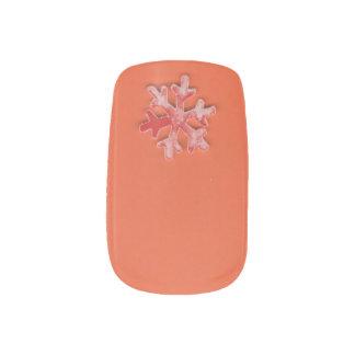 Choose Color Snowflake on Orange Minx Nail Art