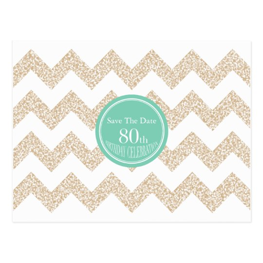 Choose Colour 80th Birthday Party Save the Date P Postcard