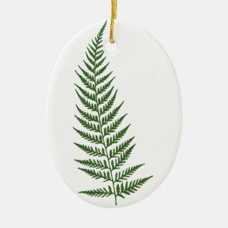 Choose Custom Color Pressed Fern Leaf Ceramic Ornament