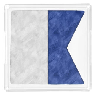 Choose from 26 Watercolor Nautical Maritime Flags Acrylic Tray