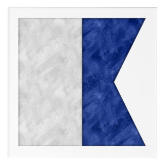 Choose from 26 Watercolor Nautical Maritime Flags Acrylic Wall Art