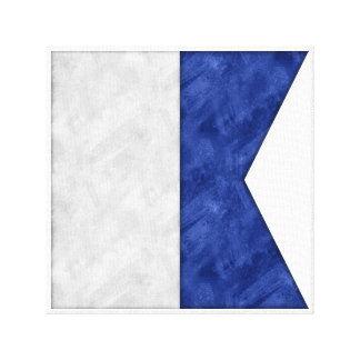Choose from 26 Watercolor Nautical Maritime Flags Canvas Print