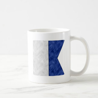 Choose from 26 Watercolor Nautical Maritime Flags Coffee Mug