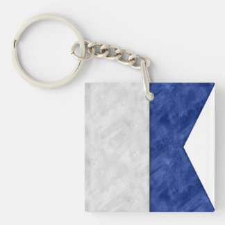 Choose from 26 Watercolor Nautical Maritime Flags Key Ring
