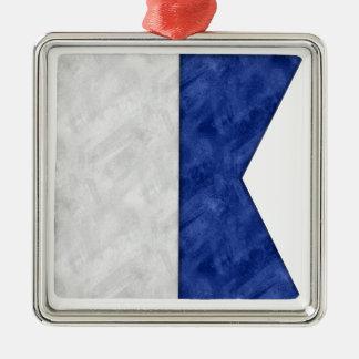Choose from 26 Watercolor Nautical Maritime Flags Metal Ornament