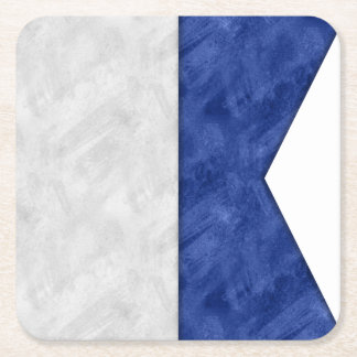 Choose from 26 Watercolor Nautical Maritime Flags Square Paper Coaster