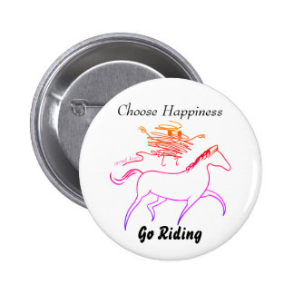 Choose Happiness - Go Riding 6 Cm Round Badge