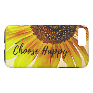 Choose Happy Inspirational Quote Sunflower iPhone 8 Plus/7 Plus Case