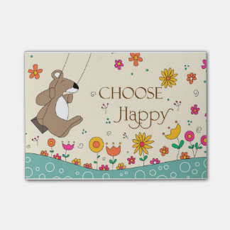 Choose Happy Post-it Notes