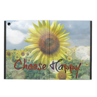 Choose Happy Quote with Sunflowers Cover For iPad Air