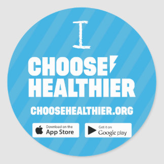 Choose Healthier Sticker Set (20) - Blue