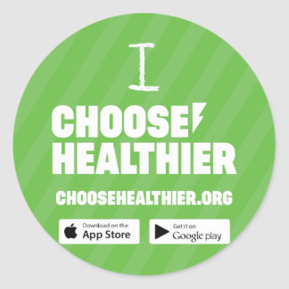 Choose Healthier Sticker Set (20) - Green