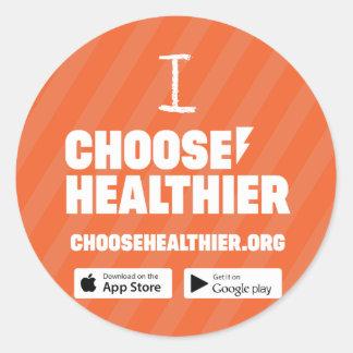Choose Healthier Sticker Set (20) - Orange