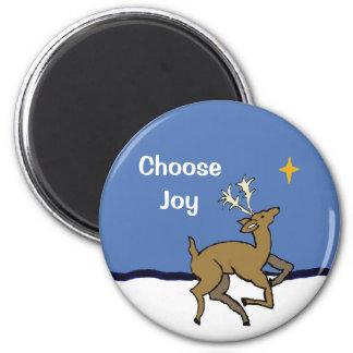 choose joy 6 cm round magnet