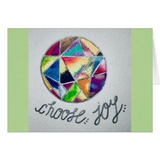 Choose Joy - A Card of Encouragement