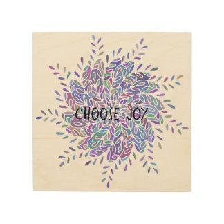 Choose Joy Mandala Wooden Wall Sign