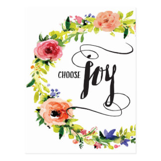 Choose Joy, with Flowers Postcard