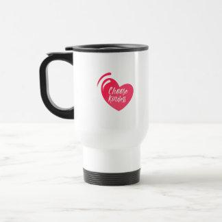 Choose kindness mug white pink color