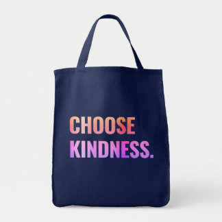 Choose Kindness Navy Blue Tote Bag