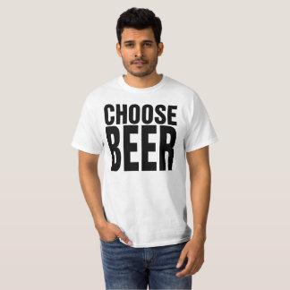 Choose Life Choose Beer Funny 80s T Shirt