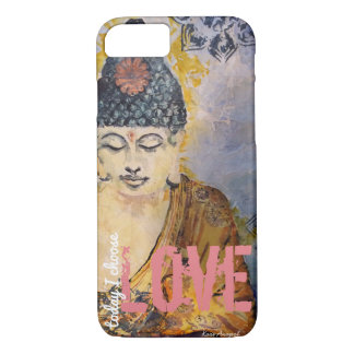 Choose Love Zen Buddha Watercolor Art Phone Case
