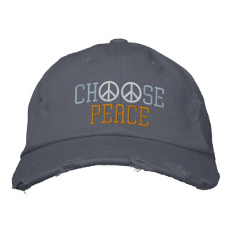 Choose Peace Embroidered Hat