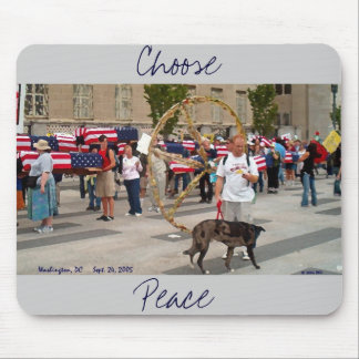 """Choose Peace"" Mouse Pad"