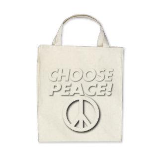 Choose Peace Organic Tote Bag