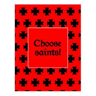 """Choose saints!"" Postcard"